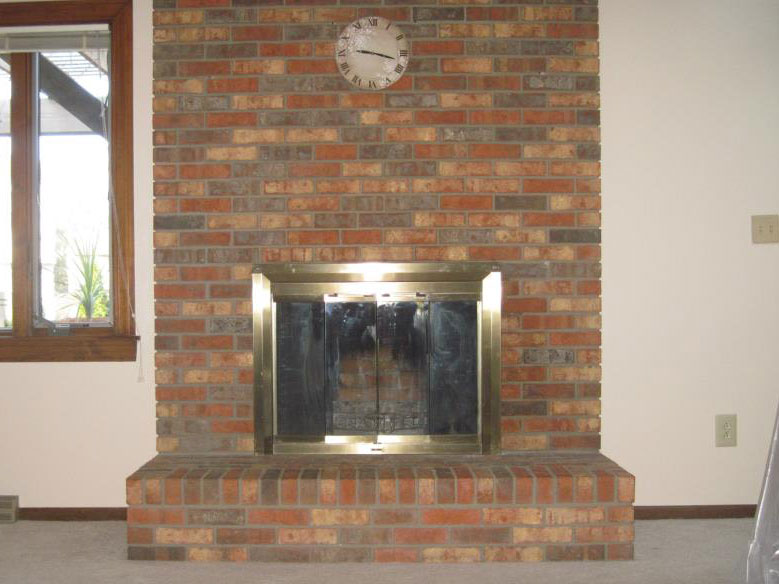 fireplace furniture brick eva a on how to remodel update budget ideas